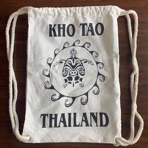 Kho Tao Thailand Drawstring Backpack